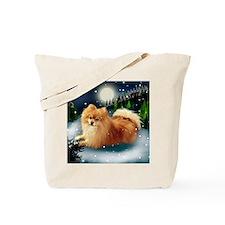 POMERANIAN DOG MOUNTAIN Tote Bag
