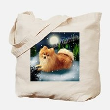 POMERANIAN DOG MOUNTAIN Tote Bag