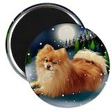 Pomeranian Round Magnets