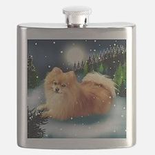 POMERANIAN DOG MOUNTAIN Flask