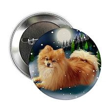 "POMERANIAN DOG MOUNTAIN 2.25"" Button"
