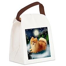 POMERANIAN DOG MOUNTAIN Canvas Lunch Bag