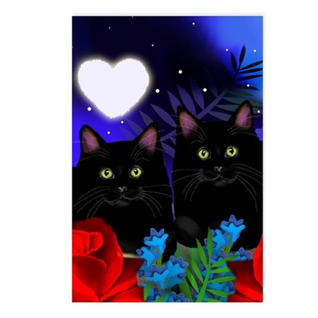 black cats Postcards (Package of 8)