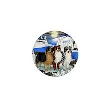 Australian Shepherd Dog Mini Button
