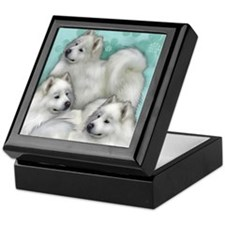 Samoyed Dogs Keepsake Box