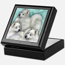 Samoyed Dogs Keepsake Box