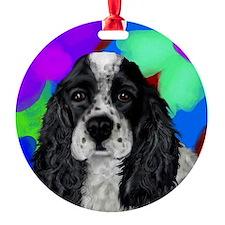 parti cocker spaniel Round Ornament