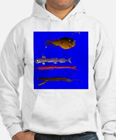 Deep Sea Fish teeth dark backgro Hoodie