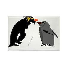 Rockhopper Penguin Mom and Baby Rectangle Magnet