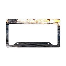 Woody Smallmouth Bass License Plate Holder