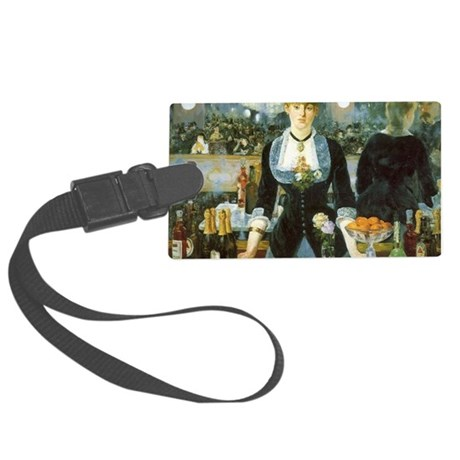 Bar at the Folies-Bergere by Man Large Luggage Tag