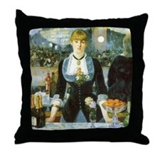 Bar at the Folies-Bergere by Manet Throw Pillow