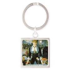 Bar at the Folies-Bergere by Manet Square Keychain