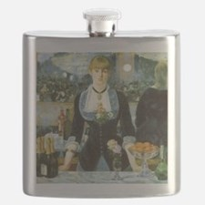 Bar at the Folies-Bergere by Manet Flask