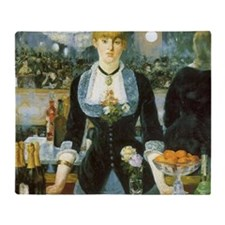 Bar at the Folies-Bergere by Manet Throw Blanket