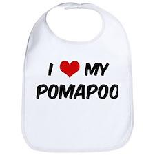 I Love: Pomapoo Bib