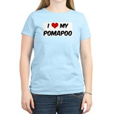 I Love: Pomapoo Women's Pink T-Shirt