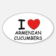 I love armenian cucumbers Oval Decal