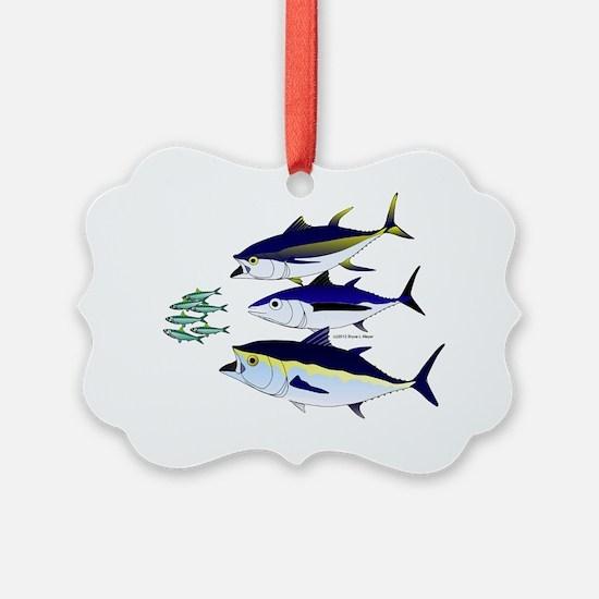 Three Tuna and Sardines T Ornament
