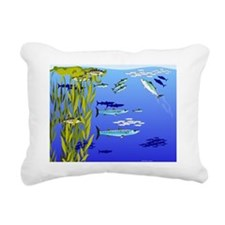 Kelp Edge Action w Rectangular Canvas Pillow