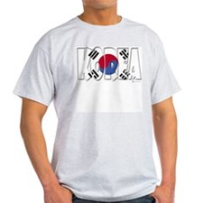 Word Art Flag of Korea Ash Grey T-Shirt