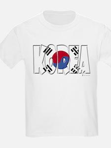 Word Art Flag of Korea Kids T-Shirt