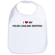 I Love: Polish Lowland Sheepd Bib
