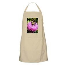 Bumble Bee on Pink Thistle flower ls2 Apron