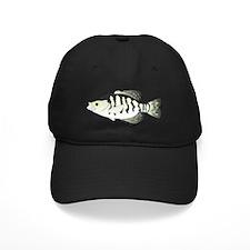 White Crappie t Baseball Hat