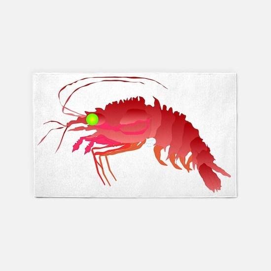 Deep Sea Red Shrimp t 3'x5' Area Rug
