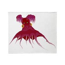 Vampire octopus t Throw Blanket