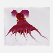 Vampire octopus t Throw Blanket