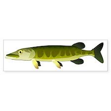 Muskellunge Muskie pike fish ct Bumper Sticker