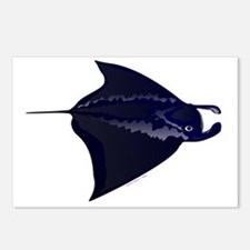 Manta Ray c Postcards (Package of 8)