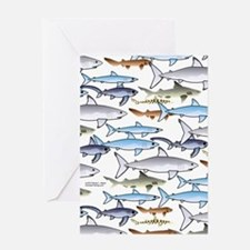 School of Sharks n Greeting Card