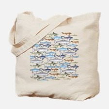 School of Sharks t Tote Bag