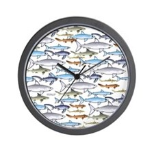 School of Sharks t Wall Clock