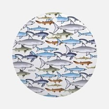 School of Sharks t Round Ornament