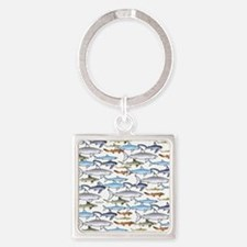 School of Sharks t Square Keychain
