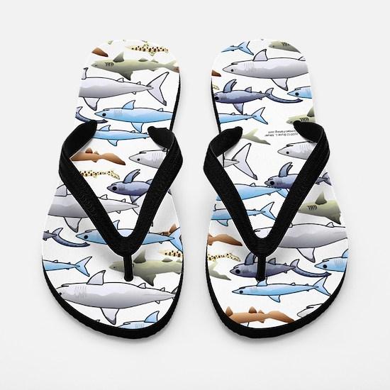School of Sharks t Flip Flops