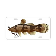 Madtom Catfish t Aluminum License Plate