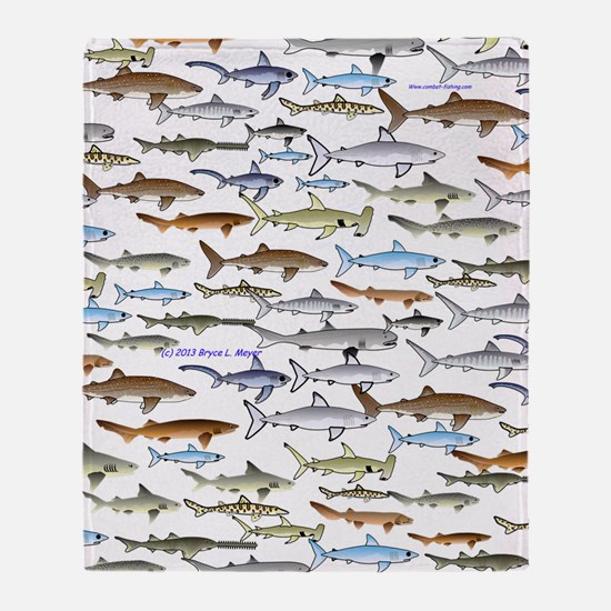 school of sharks 2V3 Throw Blanket