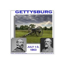 "Lee_Meade_Gettysburg Square Sticker 3"" x 3"""