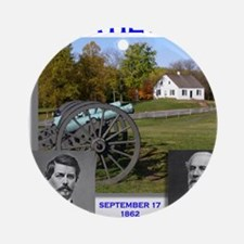 Antietam_Lee_McClellan Round Ornament