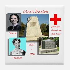 Clara Barton Tile Coaster