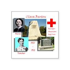 """Clara Barton Square Sticker 3"""" x 3"""""""