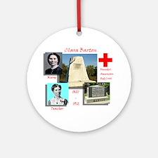 Clara Barton Round Ornament