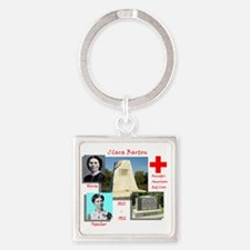 Clara Barton Square Keychain