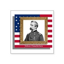 "Chamberlain in Frame Square Sticker 3"" x 3"""