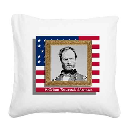 Sherman in Frame Square Canvas Pillow